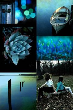 by Seattle artist, Letha Colleen.  Black & Blue [Friday Flickr Photo Collage]