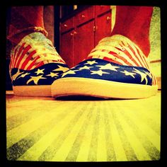 Whites keds painted for the 4th