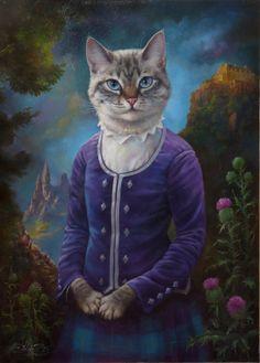 Eldar Zakirov – heden, Oezbekistan) bij The Great Cat Je hebt kattenliefh… I Love Cats, Cute Cats, Costume Chat, Animal Society, Fancy Cats, Photo Chat, Cat People, Pet Portraits, Cat Art
