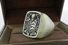 Custom made ring signet ring crest ring for more information contact  3dheraldry@gmail.com