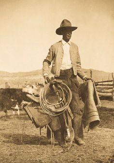 Cowboy Bert Arthur Nelson, Westcliffe, Colorado  1914  Cowboys built Colorado as much as the miners.