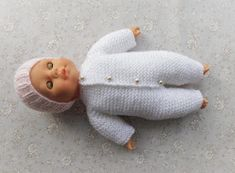Ravelry: Garter Stitch Baby Onesie pattern by marianna mel Baby Boy Knitting Patterns Free, Knitted Doll Patterns, Knitted Dolls, Baby Patterns, Crochet Patterns, Knitting Dolls Clothes, Baby Doll Clothes, Doll Clothes Patterns, Baby Dolls