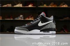 a33c6e96684 Air Jordan 3 Retro JTH AV6683-001 Mens Sneakers Black White Gray Red
