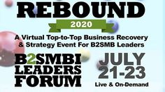 Discover How Small Businesses are Rebounding in this B2SMB Event Business Events, Business Networking, Business Planning, Small Business Expo, Online Business, Online Digital Marketing, Motivational Posts, New Bus, Event Calendar
