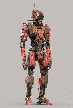 2323 - work fo fun and pratice - Arte Robot, Robot Art, Conception Robot, Futuristic Robot, Arte Sci Fi, Gato Anime, Totenkopf Tattoos, Robots Characters, Armadura Medieval
