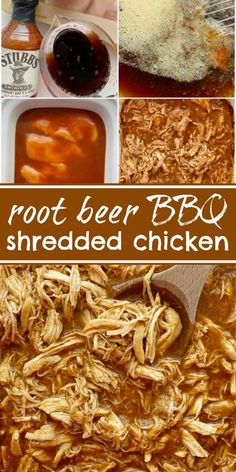 BBQ Root Beer Chicken is an easy 6 ingredient crock pot recipe! Perfectly moist, tender, fall apart shredded chicken that's perfect for sandwiches. Slow Cooker Recipes, Crockpot Recipes, Healthy Recipes, Healthy Meals, Easy Recipes, Cooking Recipes, Bbq Chicken Sandwich, Beer Chicken, Grilled Vegetable Recipes