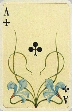 Art Nouveau Playing Card.