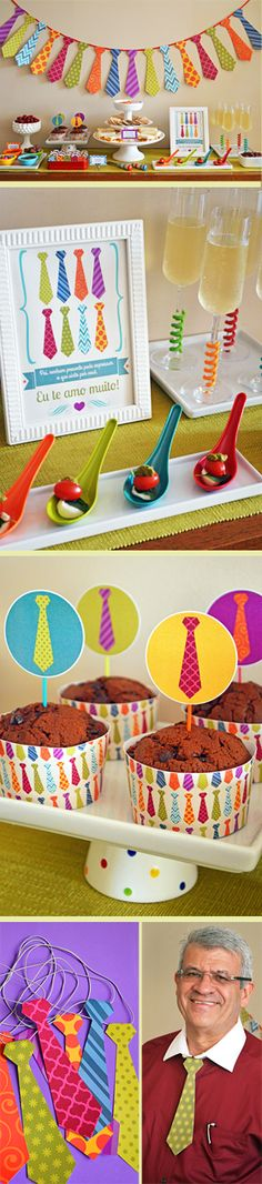 Like the fuzzies around the glasses. Father's Day Celebration, Daddy Day, Fathers Day Crafts, Ideas Para Fiestas, Party Kit, Deco Table, Mother And Father, Diy Crafts For Kids, Preschool Activities