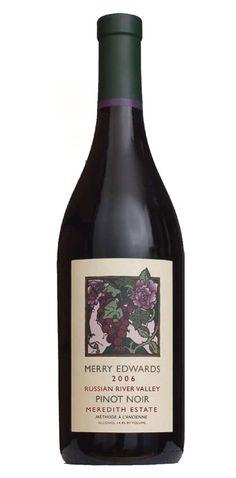 Merry Edwards, Sebastopol, CA Some Amazing Facts, Pinot Noir Wine, California Wine, Wine And Spirits, Fine Wine, Bottle Labels, Label Design, Cellar, Wine Pairings