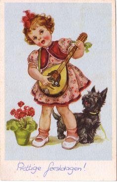 Scottie Vintage Card | Jaanas Gott o Blandat -