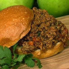 Mario Batali's Sloppy Joes. This was originally the recipe of Mario's son Leo, but this version has a twist. Mario has added some Jalapeños and beer to give it some extra flavor!  Here's the link to go directly to the recipe:   http://beta.abc.go.com/shows/the-chew/recipes/Sloppy-Joe-Twist-Mario-Batali