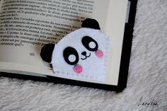 Simpatico panda segnalibro ad angolo in feltro un di Lanatema