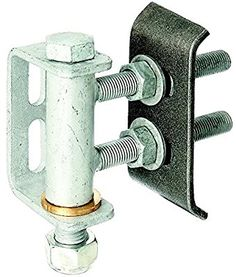 Gah-Alberts 411350 Gate Hinge for 180° Opening / Adjustable Levels / Hot-Dip Galvanised / for Welding / M16 / Max. Load 300 Kg