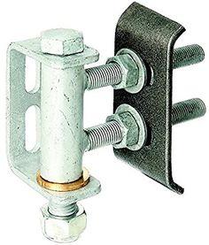 Gah-Alberts 411350 Gate Hinge for 180° Opening / Adjustable Levels / Hot-Dip Galvanised / for Welding / M16 / Max. Load 300 Kg