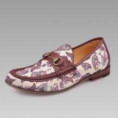Mens Brown Floral Hipster Fashion Wedding Prom Dress Moccasins Shoes SKU-1280685