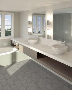 I like the extension of the counter 'over' the bath. I like how it simplifies the bathroom by reducing the need for 1 more item. http://www.finalarchitecture.com/wp-content/uploads/2013-white-elegant-good-looking-bathroom-best-green.jpg