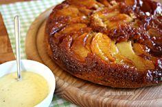 Torta di mele rovesciata cotta in padella