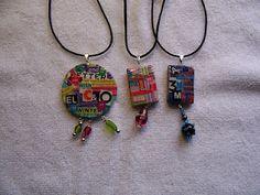 Tutorial on making upcycled pendants
