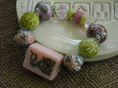 Pink Dragon Mahjong Bracelet - Jesse James Beads Jewelry - Mah jong Jewelry by MahjongJewelry on Etsy
