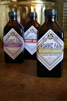 package design by margaret hanson. organic fair soda syrup