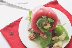 Gevulde paprika met spinazie