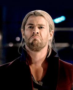 Thor looks like Grumpy Cat. haha (someone should edit a pit of Grumpy Cat & Thor, just saying) Marvel Heroes, Marvel Dc, Marvel Funny, Chris Hemsworth Thor, Memes, Avengers Age, Age Of Ultron, Marvel Movies, My Guy