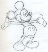 My Disney Drawing - Mickey Mouse Drawing - - . My Disney Drawing - Mickey Mouse Drawing - Instructions-dekoki . Pencil Art Drawings, Art Drawings Sketches, Sketch Art, Cute Drawings, Outline Drawings, Sketch Ideas, Cool Easy Drawings, Animal Drawings, Easy Disney Drawings