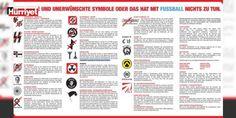 Alman kulübü ırkçılık ve aşırı sağ ile mücadele ediyor : Almanya 2. Futbol Ligi kulüplerinden 1860 Münihin ırkçılık ve aşırı sağla mücadele kapsamında hazırladığı el ilanlarında statta maçları izlemek isteyen taraftarların kullanması yasak olan sembol ve işaretlere yer verildi.  http://ift.tt/2cSUI3J #Dünya   #mücadele #aşırı #ırkçılık #isteyen #izlemek