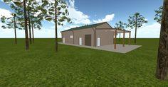 3D #architecture via @themuellerinc http://ift.tt/2izSWsI #barn #workshop #greenhouse #garage #DIY