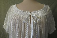 Lace Blouse with Satin Trim by LouisaAmeliaJane on Etsy, $22.50