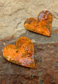 tessella designs rusty hearts , shabby chic tin hearts for valentines
