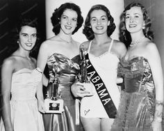 Miss America Pageant Contestants 1950s 8x10 Reprint Of Old Photo