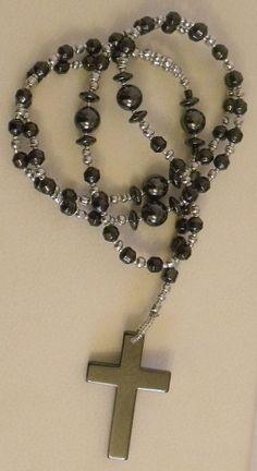 Unisex Handmade Magnetic Hematite Beads Healing Rosary by TaKuKai, £44.95