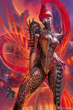 As the SS-class qigong master of the Red Snake Hall, the Red Wolf has 30 internal force silences in front and + super power to reduce vertigo resistance. Fantasy Art Women, Dark Fantasy Art, Fantasy Girl, Fantasy Artwork, Female Character Design, Character Art, Akali League Of Legends, Mädchen In Bikinis, Cyberpunk Art