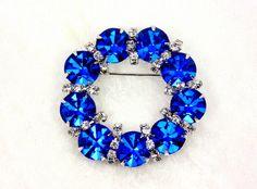 Vintage Bermuda Blue Eisenberg Ice Wreath Brooch (45.00 USD) by imagiLena