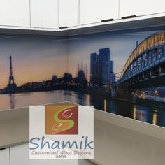 Stunning Printed Splashback Create your own dynamic space. Contact us - info@shamik.co.za