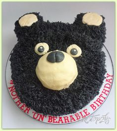 Buttercream Grizzly Bear Cake Buttercream grizzly bear cake