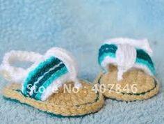 Google Image Result for http://i01.i.aliimg.com/wsphoto/v7/626382691_2/Handmade-crochet-baby-shoes-infant-sandals-boys-slippers-color-stripe...
