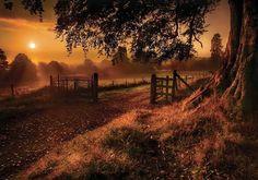 Sunrise in Derrymore, Northern Ireland