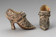 Pair of women's shoes    European, 1750–1760s