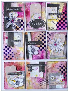 Mixed Media Pocket Letter #colourarte #7Dots Studios
