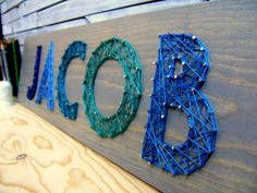Modern String Art Letters - fun wall art for the nursery or kids room!