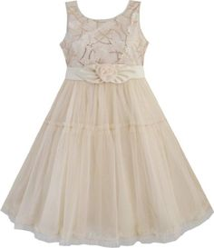 EE74 Girls Dress Shinning Sequins Beige Tulle Layers Wedding Pageant Size 7-8 Sunny Fashion,http://www.amazon.com/dp/B00GFAJACI/ref=cm_sw_r_pi_dp_qkkptb0PBZJJS7XA