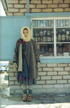 Layering | Folk dress | Warm & bundled
