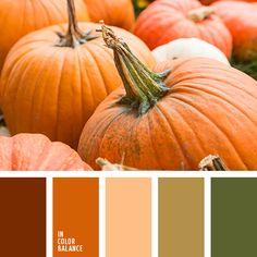 болотный, бордово-рыжий, зеленый, коричневый, оливковый, оттенки зеленого, оттенки оранжевого, пастельные оттенки осени, рыжий, теплый оранжевый, тыквенный, цвет тыквы, цвета осени 2017, цветовое решение для осени.
