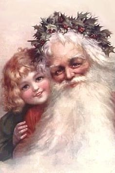 I love vintage Santa Claus prints and clip art..The little girl in the picture looks like myself as a child..I still believe in Santa Claus because I have been told when you stop believing, you get underwear for Christmas..LOL