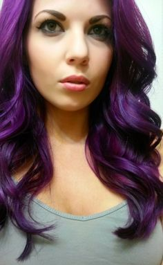Punky Colour Purple + Plum mix with 3 week fade