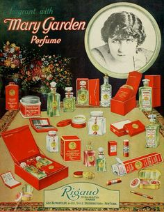 Vintage Advert for Rigauds Mary Garden range of toiletries and perfume  - MPC Nov 1920 by CharmaineZoe, via Flickr