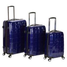 Rockland Luggage Celebrity Collection 3 Piece Hardside Spinner Luggage Set Image