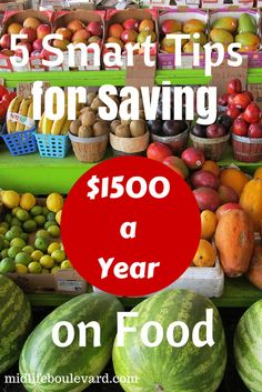 5 Smart Tips for Saving $1500 a Year on Food: saving money on food.